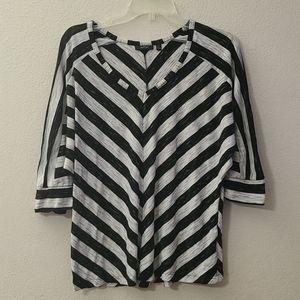 Apt 9 short sleeve striped top